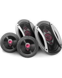 "Hinor Universal Car - 4 way 6""x9"" pair + 3 way  6"" pair - 340 Watts RMS Car Speakers Kit"
