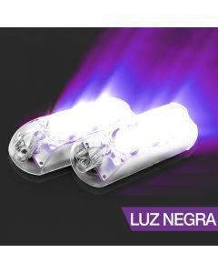 AJK LPS Black LED 2 Headlights Ultraviolet Kit Car Strobo