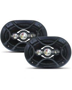 "Bravox 6""x9"" 4 Way Premium B4X69P - 160 Watts RMS Car Speakers"