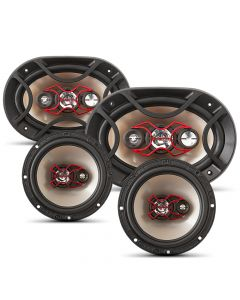 "Bravox Easy X - 4 way 6""x9"" pair + 4 way  6"" pair - 240 Watts RMS Car Speakers Kit"