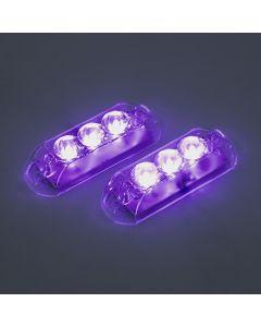 Par de Faróis Strobo Automotivo AJK Black em LED - Ultra Violeta