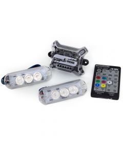 AJK IR Control LED 2 Headlights RGB 7 Colors Kit Car Strobo