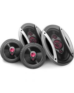 "Hinor Universal Car - 4 way 6""x9"" pair + 3 way  6"" pair - 340 Watts RMS Car Speakers Kit"