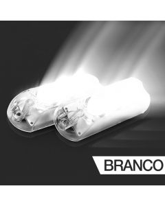 AJK LPS Black LED 2 Headlights White Kit Car Strobo