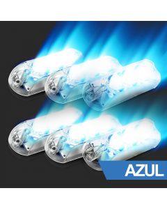 AJK LPS Black LED 6 Headlights Blue Kit Master Car Strobo