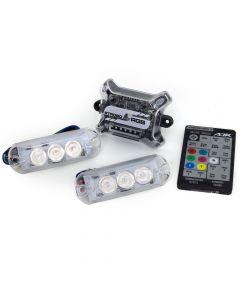 AJK IR Control LED 2 Headlights RGB 7 Colors Kit Car Strobo